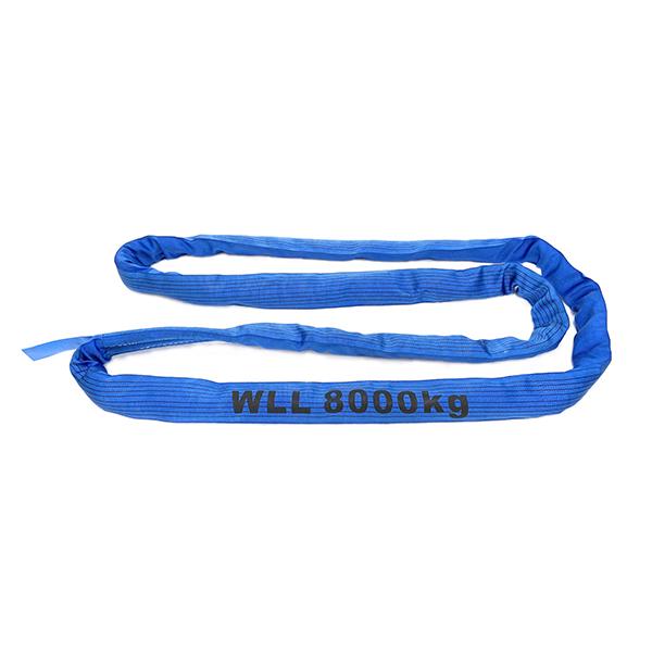 蓝色单层盖聚酯圆形吊索1吨