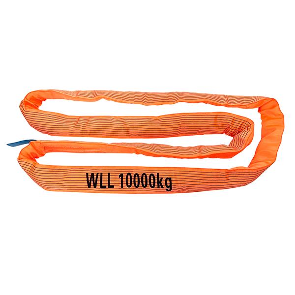 橙色单层盖聚酯圆形吊索1吨