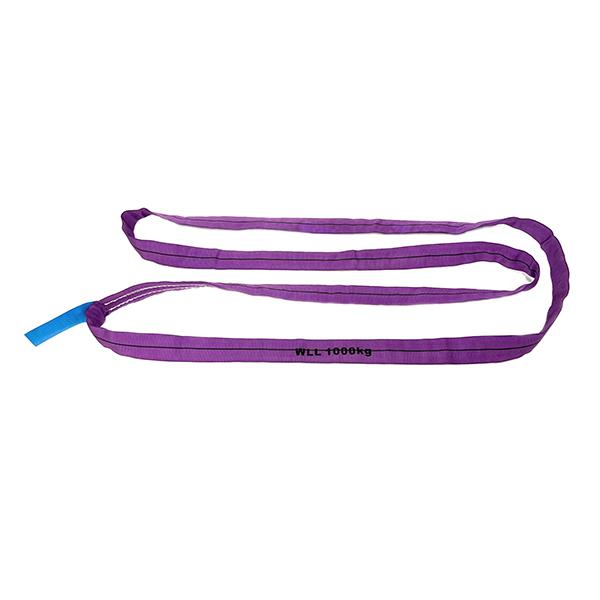 紫色单层覆盖聚酯圆形吊索1吨