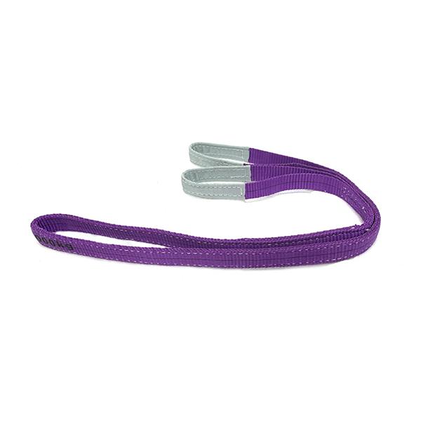 紫色聚酯双扁带吊索,带加固吊耳1吨