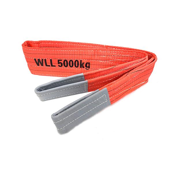 红色聚酯双扁带织带,带加固吊眼5吨